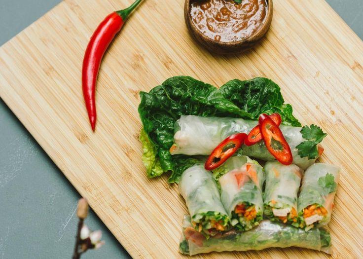Vietnamesiske vårruller med hoisinsaus