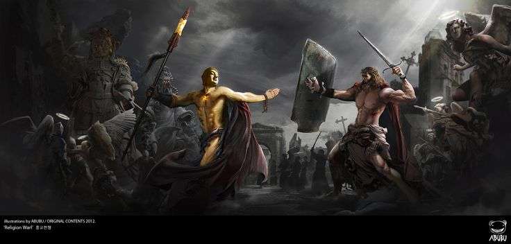"""Religoin War"" 종교전쟁 illustration by ABUBU/ ORIGINAL CONTENT2012."
