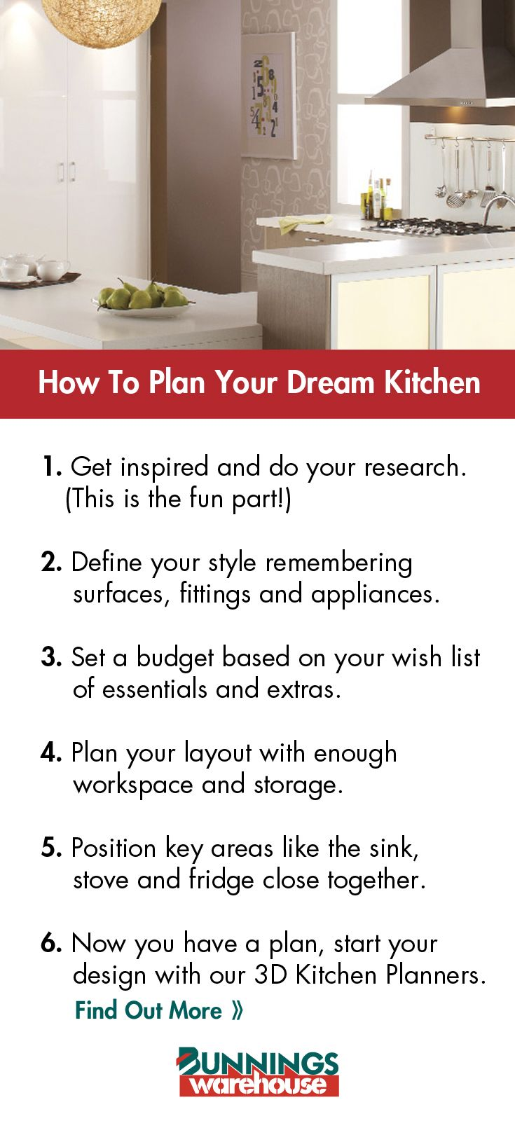 Planning Is Key To Designing Your Perfect Kitchen Make Your Diy Kitchen A Reality With