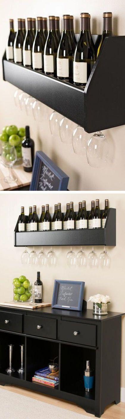 Prepac Floating Wine Rack //