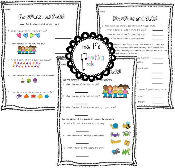 math worksheet : fractions and sets! differentiated worksheets to support student  : Fractional Parts Of A Set Worksheet