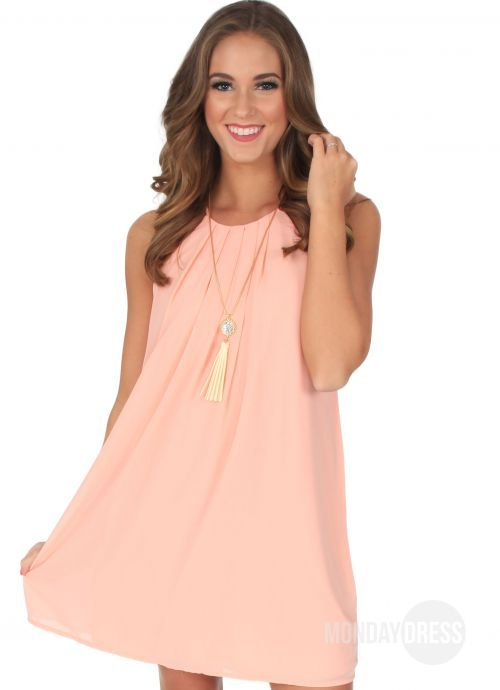 Real Love Dress in Peach | Monday Dress Boutique