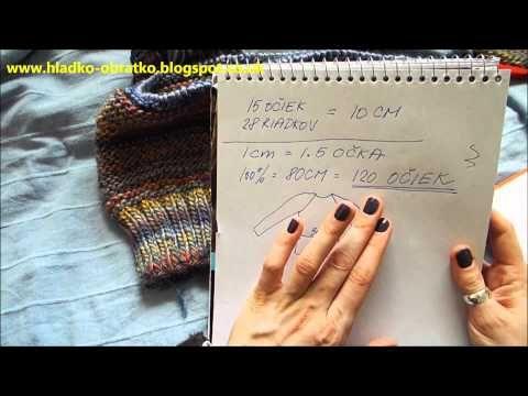 Ako štrikovať sveter vcelku - 1 časť - YouTube
