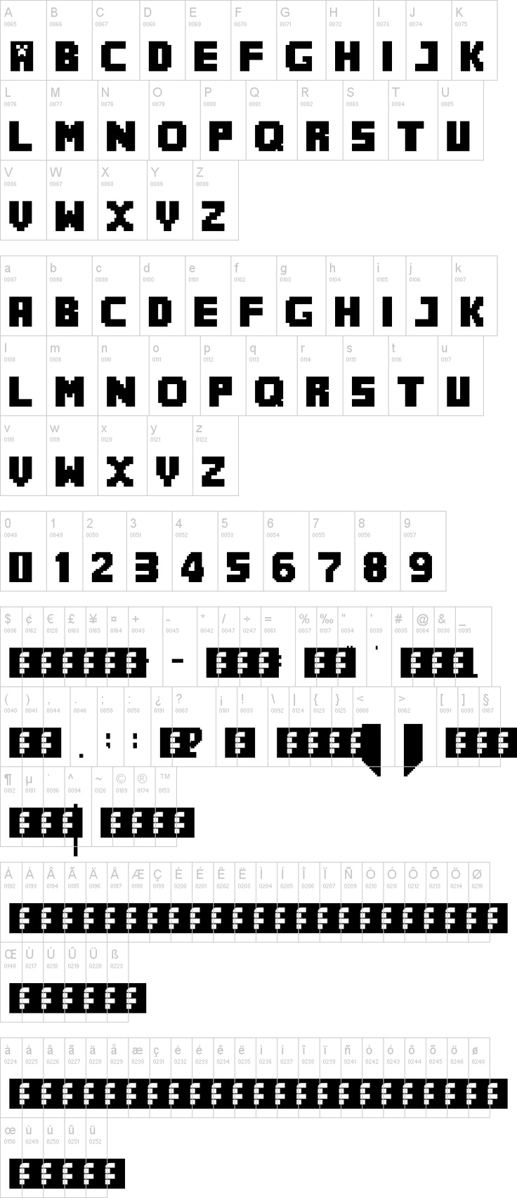 "MineCrafter- The perfect font for all Minecraft party print outs.  Seth noticed that the letters I used on his banner were ""the real Minecraft letters"".  :)  It's the little things."