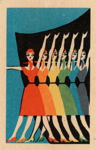 Dancing ladies in marvellous colour. #design, #vintage, #poster
