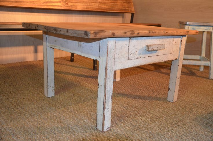table basse bois table basse vintage table basse shabby chic table basse bord de mer table. Black Bedroom Furniture Sets. Home Design Ideas