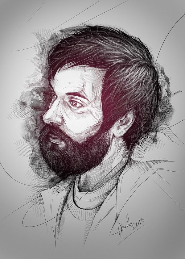 Beard Man by Anna Sun, via Behance