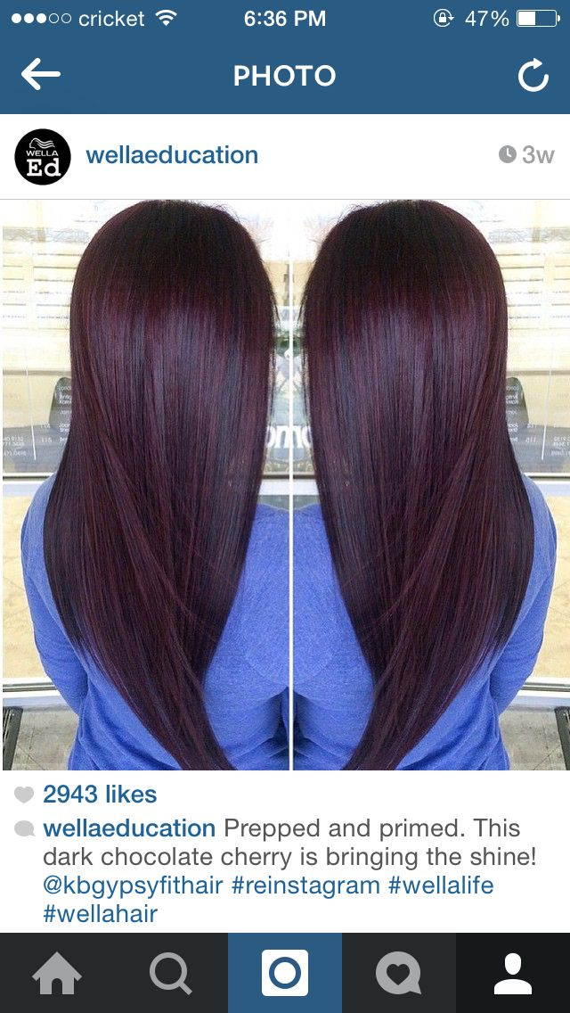 Black Cherry Hair Color Glam Up Pinterest Hair Color