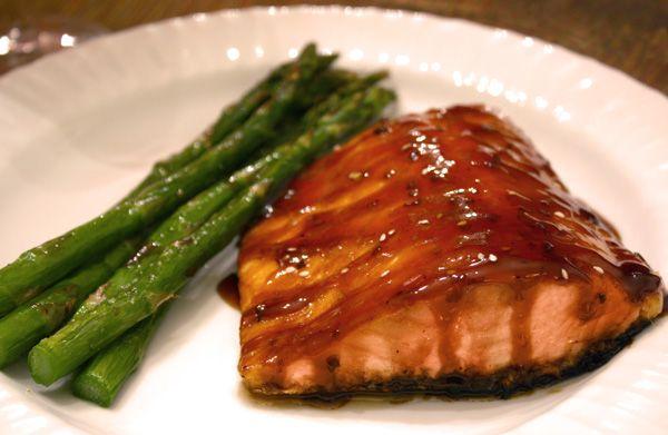 Honey Teriyaki Salmon – we're so happy to see Honey Teriyaki Sauce ...