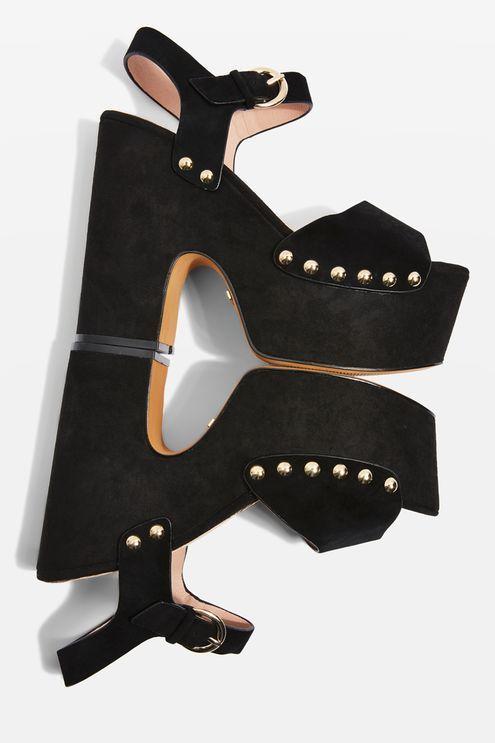 5dd2e64f660 Lourdes Extreme Platform Sandals. Black Platform SandalsPlatform ShoesBlack  ...