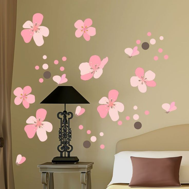 Άνθη+κερασιάς,++αυτοκόλλητο+τοίχου+