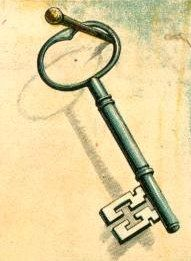 A collection of free downloadable public domain images for crafters and web designers that have been rescued from old books, magazines, and other print materials by ReuseableArt.com   Public domain drawing of a skeleton key.
