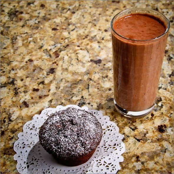 Chocolate Applesauce Cupcake