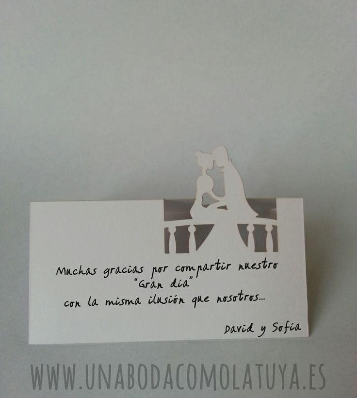 Tarjetas de agradecimiento para las mesas de tu boda