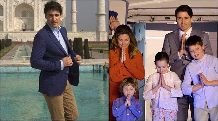 Canadian Prime Minister Justin Trudeau family visit Taj Mahal