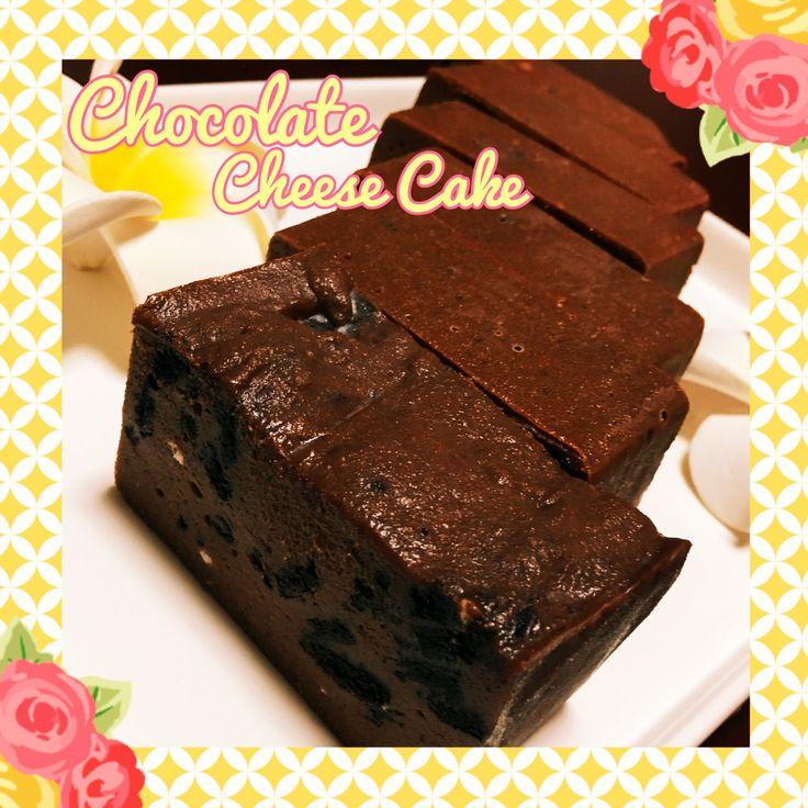 材料4つ♡レンジでザクザクチョコチーズケーキ