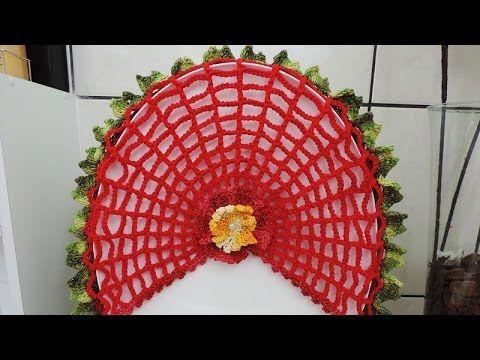 Capa para a tampa do vaso sanitário - Jogo de Banheiro Flor Neila 3D - YouTube