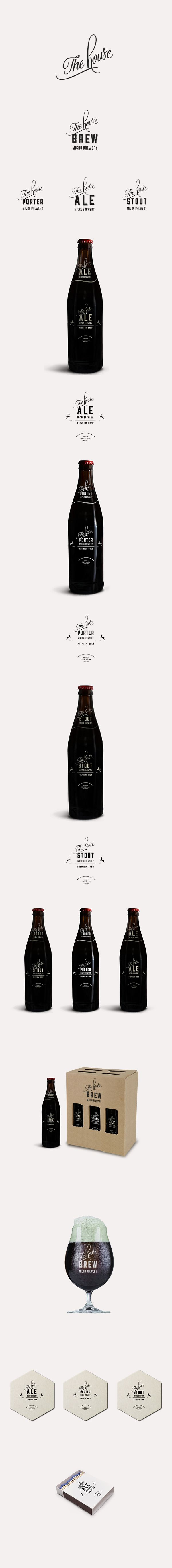 The House Brewery: CI & Packaging design by Louwrens Venter