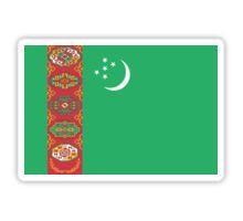Turkmenistan Flag Stickers