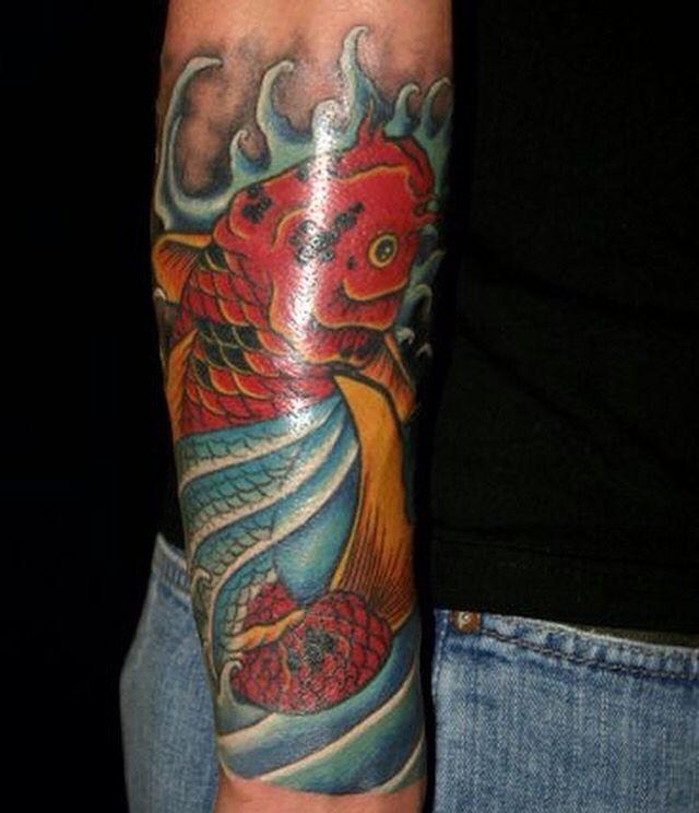 Koi fish tattoo by Patrik Gladmark
