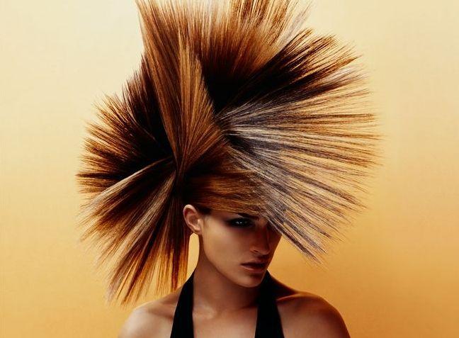 Frisur Langes Gesicht Hohe Stirn Frau Punk Frisur