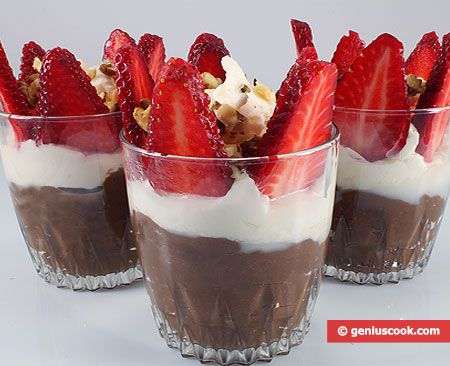 The Recipe for Chocolate Pudding with Strawberry | Desserts | Genius cook - Healthy Nutrition, Tasty Food, Simple Recipes