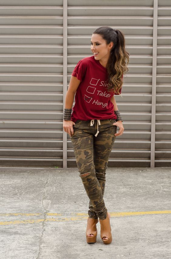 12 Outfits outfit Outfits camuflaje con mujer camuflaje mujer outfit camuflaje Camuflaje camisa rrdO8Hq