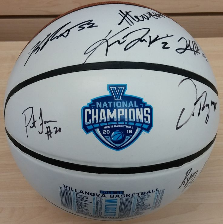 Villanova Wildcats 7-Signature Autographed 2016 White-Panel Schedule Basketball (Jenkins, Hart, Arcidiacono, Reynolds, Lowe, Farrell, Rafferty)