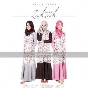 Baju Gamis Model Terbaru Zahrah Dress http://distromuslimah.net/baju-gamis-model-terbaru-zahrah-dress/
