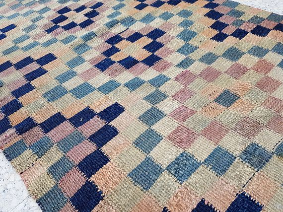 Traditional Flat Weave Kilim Runner Rug Hand Woven with Fine