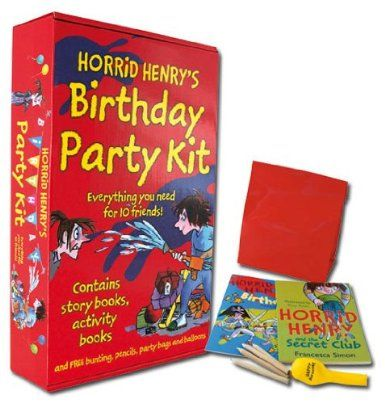 Horrid Henry Complete Birthday Party Kit Horrid Henry Story Book, Horrid Henry Activity Book, A Balloon, A Pack of Colouring Pencils, A Party Bag: Amazon.co.uk: Books