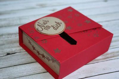 Zauberhaft-handgemacht, Box mit Schiebeverschluss, Verpackung, Embossing, Drauf und dran, SU