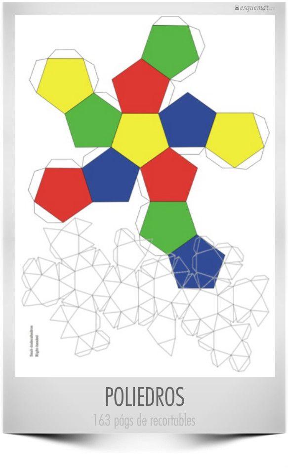Esquemat Poliedros recortables, en el aniversario de Euler de @notemates