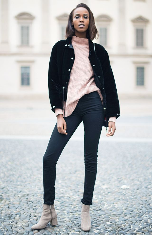 what boots to wear with skinny jeans: ankle boots