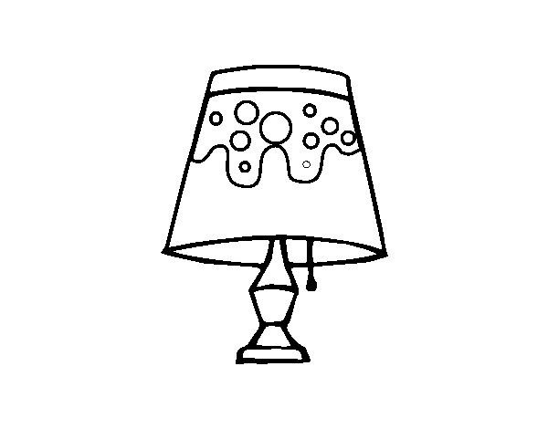 Lampara Para Colorear Lamps Living Room Room Lamp Coloring Pages