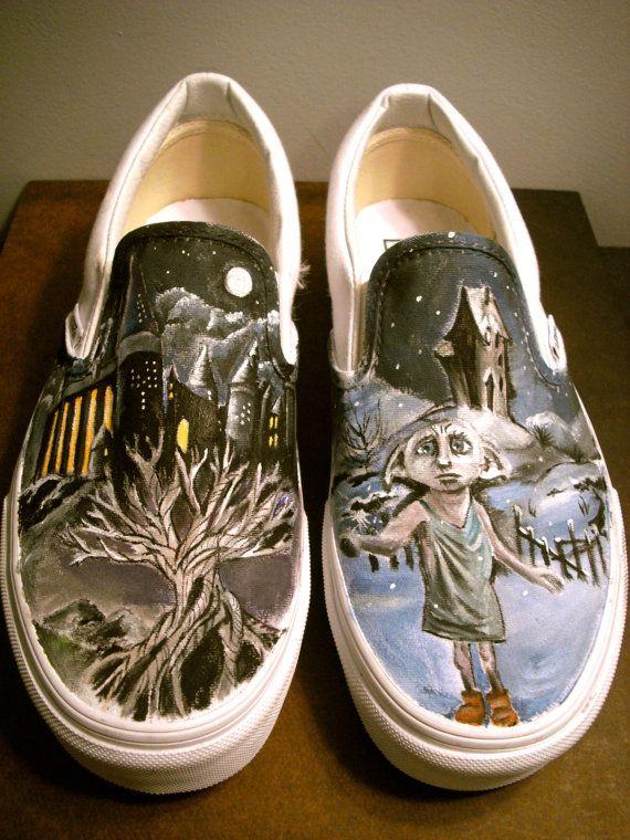Harry Potter Custom VansHarry Potter Shoes, Custom Harry, Custom Vans Shoes, Artworks, Potter Head, Hands, Potter Custom, Custom Shoes, Custom Painting Shoes
