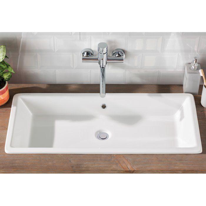 Gaia Ceramic Rectangular Vessel Bathroom Sink With Overflow Stylish Bathroom Modern Bathroom Decor Bathroom Design