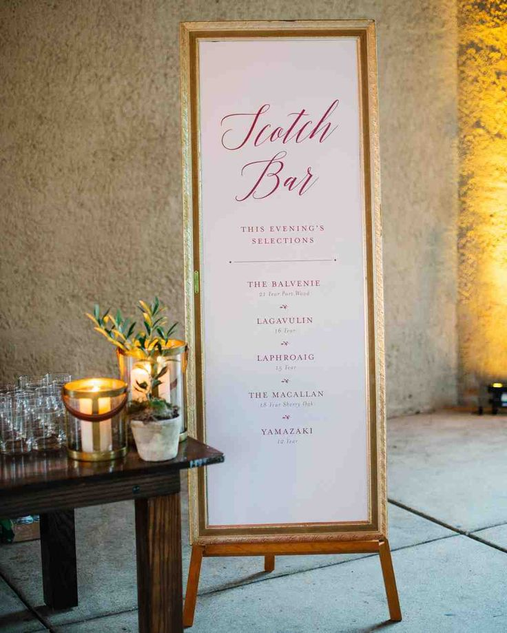 A Tuscan-Inspired Affair in St. Louis, Missouri | Martha Stewart Weddings - To honor Alex's love of scotch, the couple had a bar dedicated to the drink within the reception venue, serving up five varieties of the spirit. The groom's personal favorite was The Macallan 18.