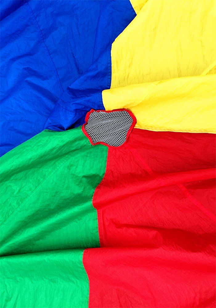 Parachute games are great for playgroups, kindy gym classes and school PE class. They also make a fun addition at birthday parties and they are even great as ice breakers with older children.