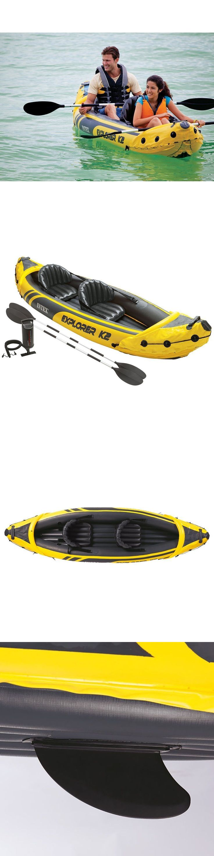 Inflatables 87090: Inflatable Fishing Kayak Boat Raft River Water 2 Person Oars Canoe Lake Air Pump -> BUY IT NOW ONLY: $132.95 on eBay!