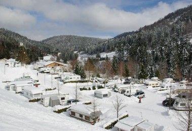 Camping d'Hiver Dans Les Vosges | Camping Belle Hutte Location Chalet