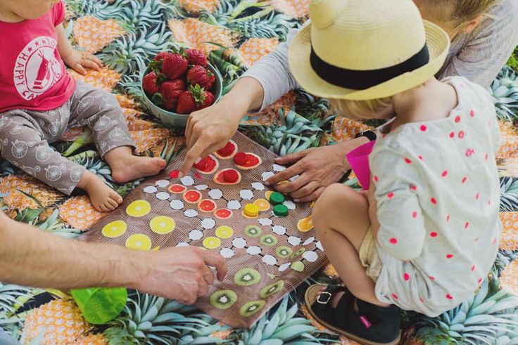 Ludo Game Picnic Blanket designed by Pink No More