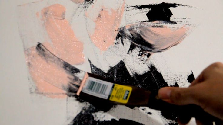 Knife Painting Acrylic FACE ART Abstract Timelapse Video RAEART