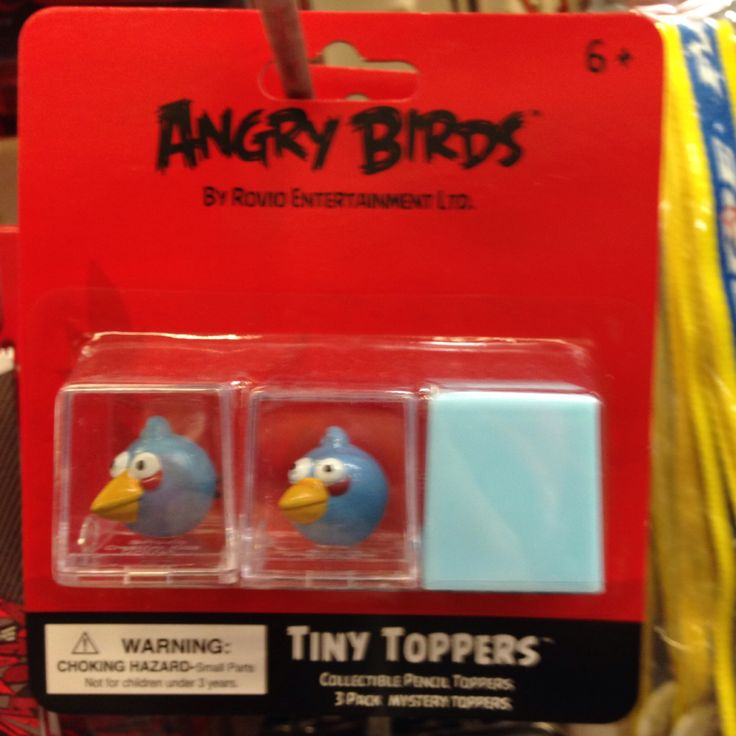 Angry Bird pencil 'toppers'