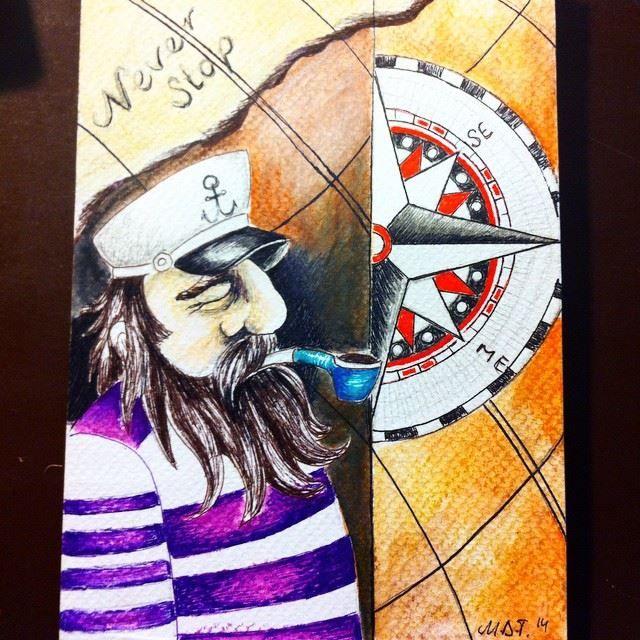 sailor,captain,illustration ,art  sailor's love 4   https://www.facebook.com/mevcemarin?fref=nf