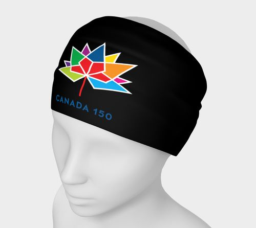 Canada 150 Black Headband Larger Logo