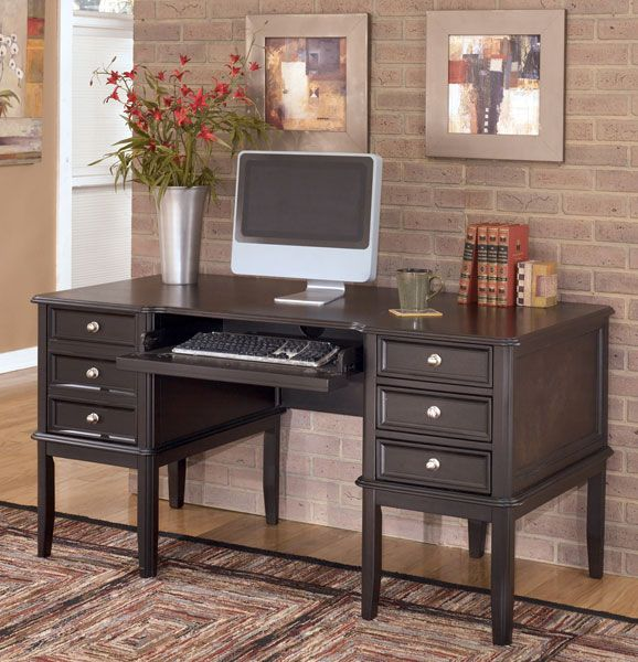 American Furniture Warehouse Virtual Store H371 27 Carlyle Storage Leg Desk By Ashley