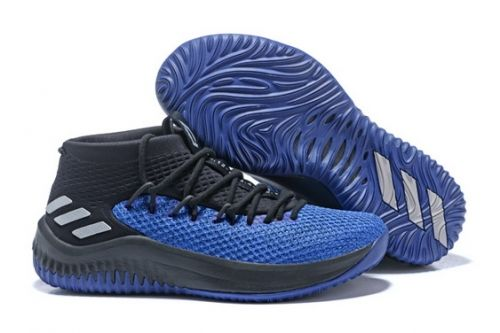 new arrival b2d36 33bbe Discount adidas Dame 4 Blue and Black - Mysecretshoes