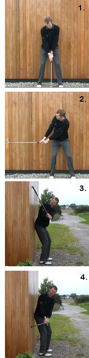 Golf Backswing Drill Video Summary Please see the backswing checkpoints video in conjunction with this drill to get the most from it.This excellent golf backswing drill is simple but very informati… More