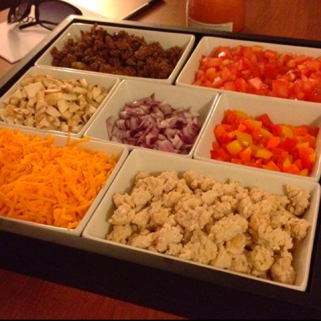 Nacho bar anyone? The best nachos are those with extra toppings!!